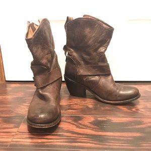 Dolce Vita Moto Boots Brown Size 8.5